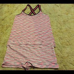 Light Pink No Boundaries Pajama Shorts Set